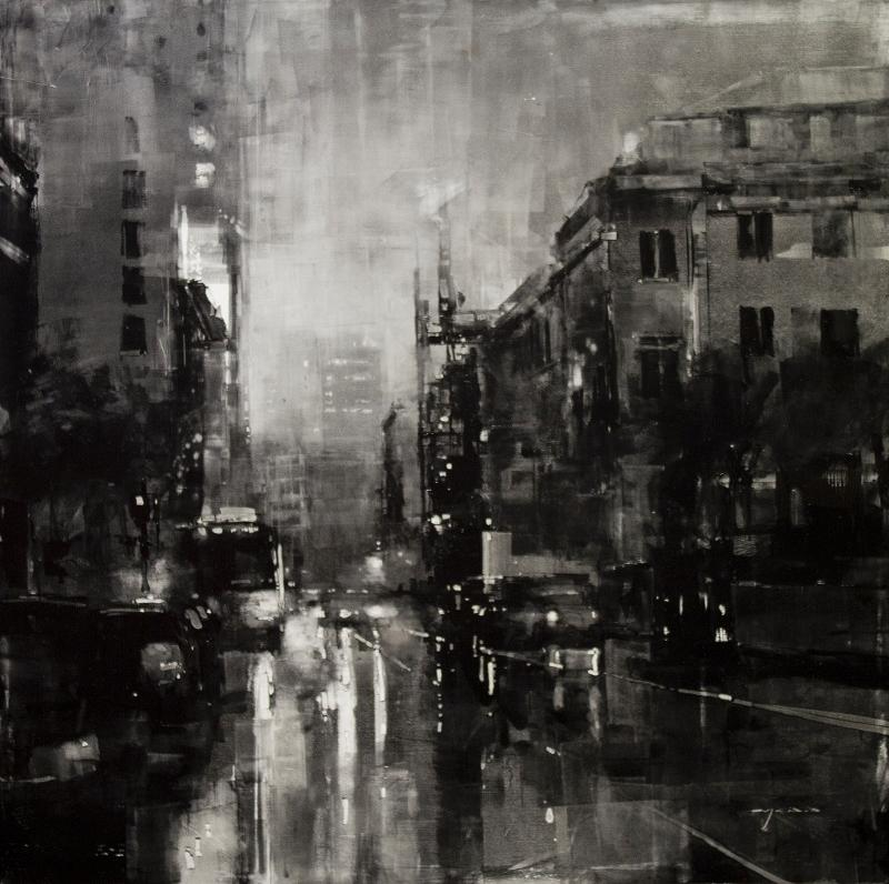 Composition #116 by Jeremy Mann (36x36) Oil on Panel