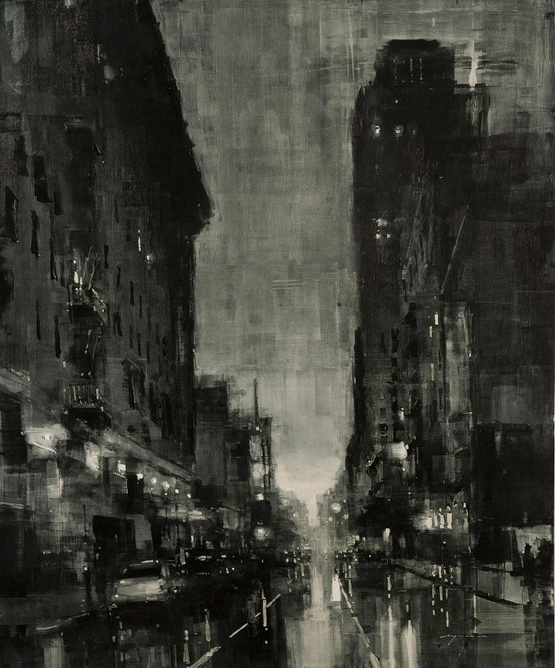 Composition #123 by Jeremy Mann (45x37) Oil on Panel