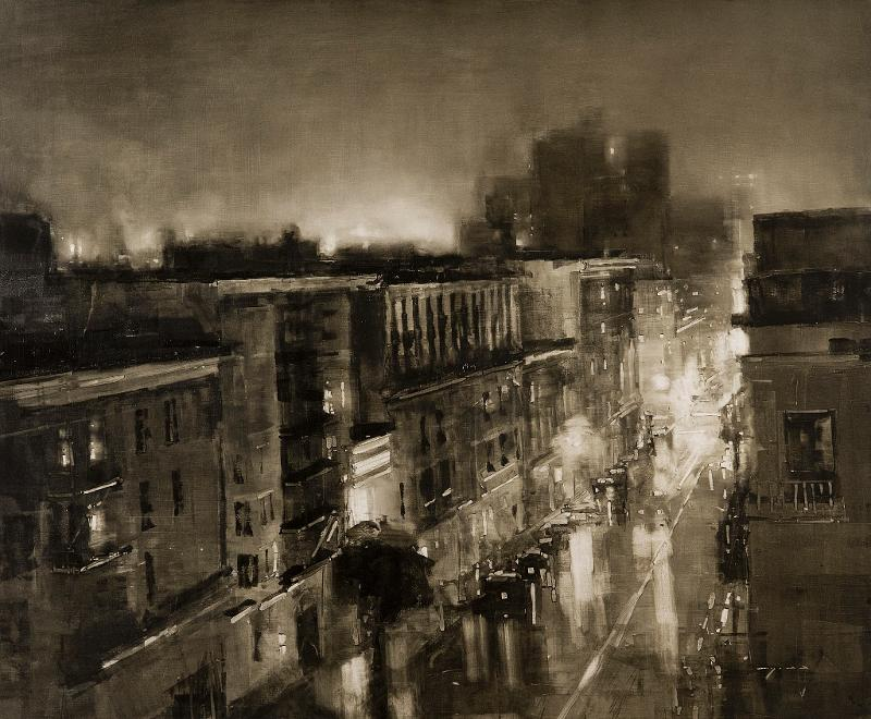 Composition #125 by Jeremy Mann (37x45) Oil on Panel