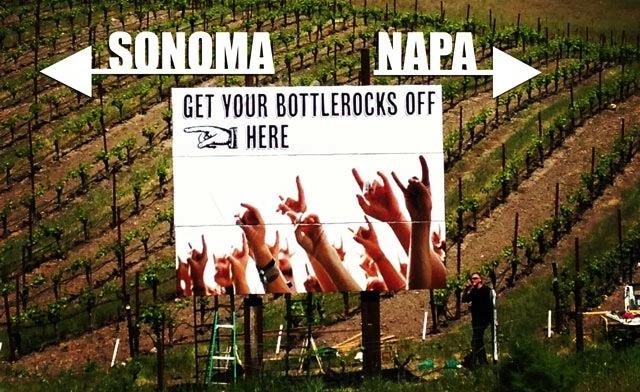 BottleRock Napa billboard