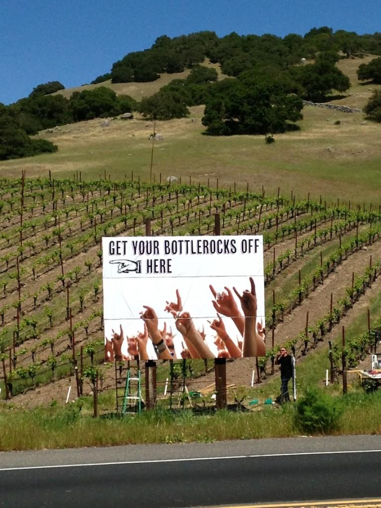 BottleRock Napa billboard in Sonoma